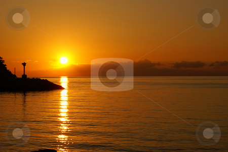 Sunrise stock photo, Sunrise in Provence (South of France) by Serge VILLA