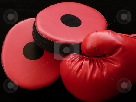 Boxing Glove with Mitts stock photo,  by Corinna Walby