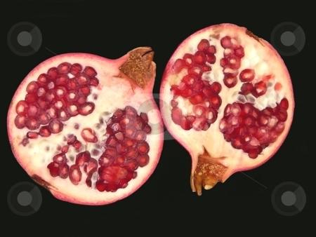 Pomegranates stock photo,  by Corinna Walby