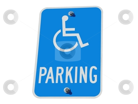 Handicapped Parking Sign stock photo,  by Corinna Walby