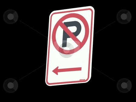 No Parking Sign stock photo,  by Corinna Walby