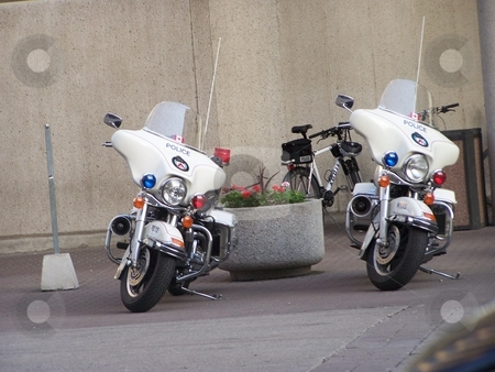 Police Motorcycle stock photo, Police motorcycle by CHERYL LAFOND