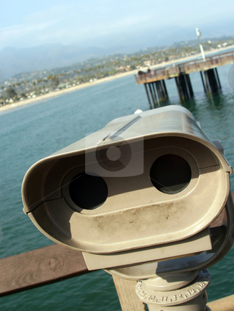 Through the Looking Glass stock photo, Santa Barbara Pier by MIca Mulloy