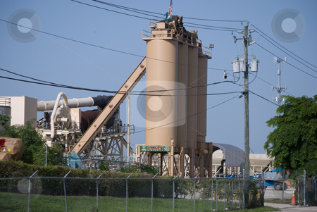 Cement Processing Plant stock photo, Cement processing plant silos by Robert Cabrera