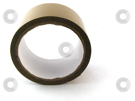 Packing Wrapping Tape on White Background stock photo, Packing Wrapping Tape on White Background by Robert Davies