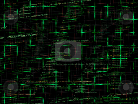 Green Abstract Programming Code Background stock photo, Green Abstract Programming Code Background Pattern With Grid by Robert Davies
