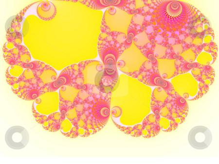 Brain Shape Light Pink and Yellow Spiral Fractal 2d Pattern for  stock photo, Brain Shape Light Pink Spiral Fractal 2d Pattern for Background Design by Robert Davies