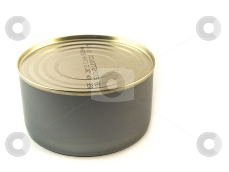 Small Tuna Tin Can on White Background stock photo, Small Tuna Tin Can on White Background by Robert Davies
