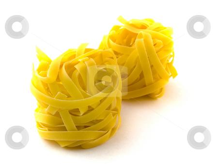Pasta Tagliatelli on White Background stock photo, Pasta Tagliatelli on White Background by Robert Davies