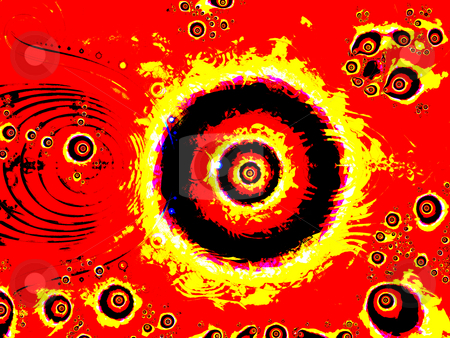 Firey Eye Fractal Design With Strong Circles stock photo, Firey Eye Fractal Design With Strong Circles Design Illustration Background by Robert Davies