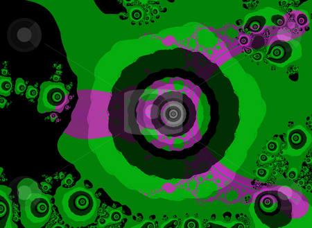 Green and Purple Fractal Design With Eye Shape stock photo, Green and Purple Fractal Design With Eye Shape looks 60s or 70s Style by Robert Davies