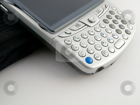Handheld device for business stock photo, Handheld blackberry device used for business by Robert Davies