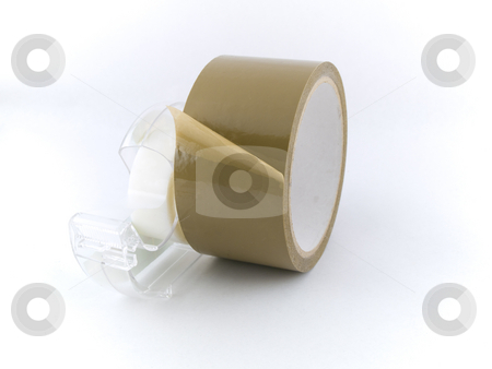 Packing Tape and Gift Tape on White Background stock photo, Packing Tape and Gift Tape on White Background by Robert Davies