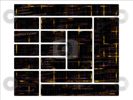 Orange and Yellow Programming Code Source Website UI interface b stock photo, Orange and Yellow Programming Code Source Website UI interface buttons by Robert Davies