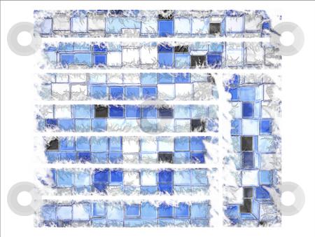 Abstract Cartoony Blue Square Blocks Website Layout Interface stock photo, Abstract Cartoony Blue Square Blocks Website Layout Interface by Robert Davies