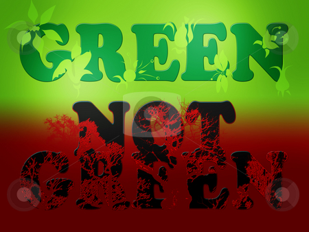 Green Not Green Contrast Message Background stock photo, Green Not Green Contrast Message Background by Robert Davies