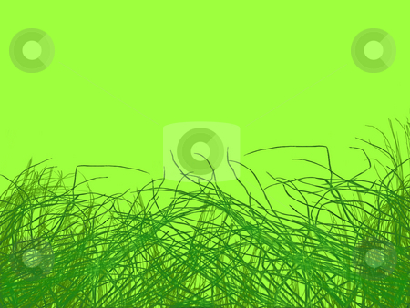 Green Grass Strands stock photo, Green Grass Strands on light Green Background by Robert Davies