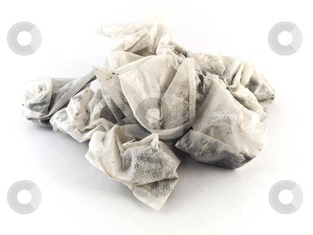 Tea Bags on White Background stock photo, Tea Bags on White Background by Robert Davies