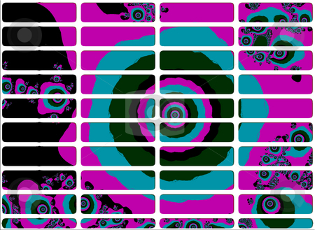 Purple and Blue Rich Fractal Website Navigation Buttons Controls stock photo, Purple and Blue Rich Fractal Website Navigation Buttons Controls Design Illustration Detailed by Robert Davies