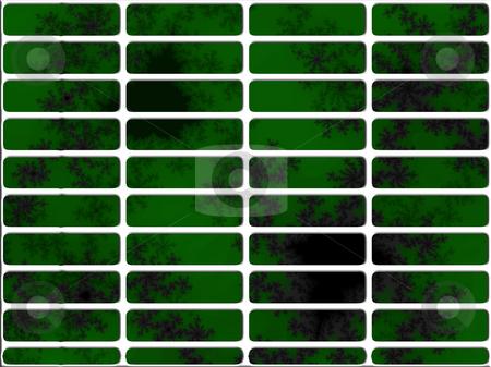 Dark Green Fractal Website Navigation Buttons Controls stock photo, Dark Green Fractal Website Navigation Buttons Controls Design Illustration Detailed by Robert Davies
