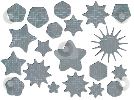 ACU Universal Army Urban Camouflage Effect Special offer Badges  stock photo, ACU Universal Army Urban Camouflage Effect Special offer Badges and Star Shapes by Robert Davies