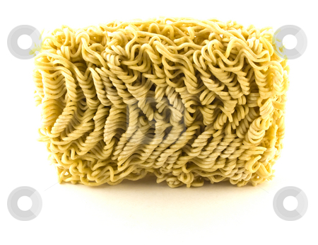 Dried Egg Noodles on White Background stock photo, Dried Egg Noodles on White Background by Robert Davies