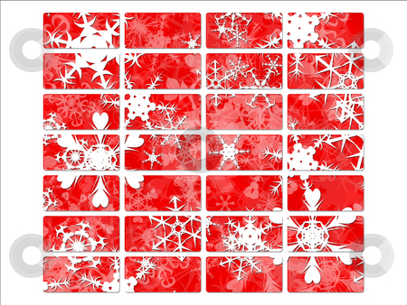 Christmas or festive season website navigation buttons with snow stock photo, Christmas or festive season website navigation buttons with snow flakes by Robert Davies