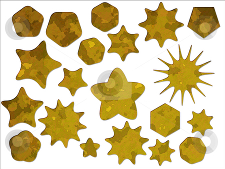 Yellow Desert Military Camouflage Effect Special Offer Star and  stock photo, Yellow Desert Military Camouflage Effect Special Offer Star and Badge Shapes by Robert Davies