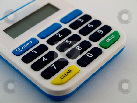 Pank PIN No Code Calculator Number Security Device To Protect Id stock photo, Pank PIN No Code Calculator Number Security Device To Protect Identity from Theft by Robert Davies