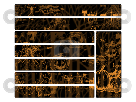 Black and orange Halloween Website Navigation Buttons Interface stock photo, Black and orange Halloween Website Navigation Buttons Interface by Robert Davies