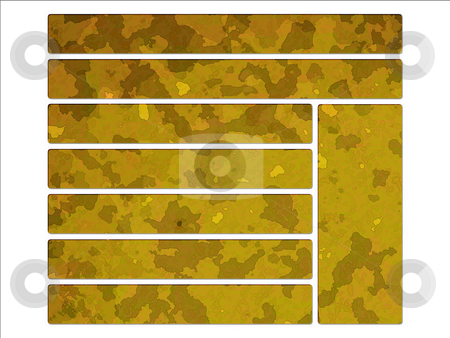 Yellow Desert Military Camouflage Effect Web Interface Buttons stock photo, Yellow Desert Military Camouflage Effect Web Interface Buttons by Robert Davies