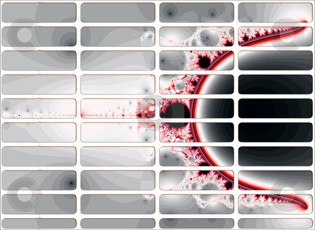Blood on White Fractal Website Navigation Buttons Controls stock photo, Blood on White Fractal Website Navigation Buttons Controls Design Illustration Detailed by Robert Davies