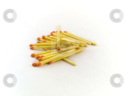 Matches on White Background stock photo, Matches on White Background by Robert Davies