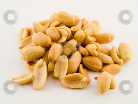 Stact Pile of Peanuts On White Background stock photo, Stact Pile of Peanuts On White Background No Shells by Robert Davies