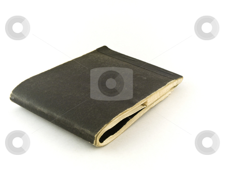 Old Chequebook on White Background stock photo, Old Chequebook on White Background by Robert Davies