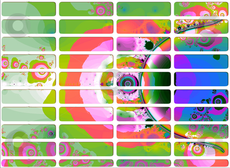 Psychadelic Rich Fractal Website Navigation Buttons Controls stock photo, Psychadelic Rich Fractal Website Navigation Buttons Controls Design Illustration Detailed by Robert Davies