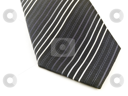 Black Tie on White Background stock photo, Black Tie on White Background by Robert Davies