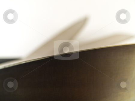 The Cutting Edge of a Knife on White Background stock photo, The Cutting Edge of a Knife on White Background by Robert Davies