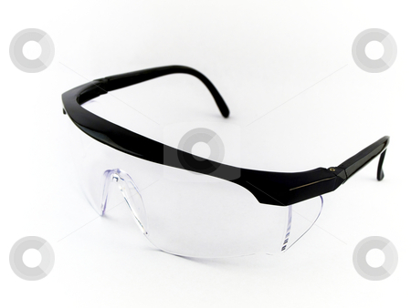 Safety Goggles on White Background stock photo, Safety Goggles on White Background by Robert Davies