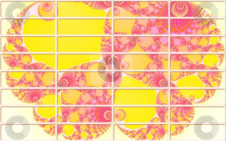 Fractal Design 2d Buttons For Website Navigation stock photo, Yellow Pink Fractal Design 2d Buttons For Website Navigation by Robert Davies