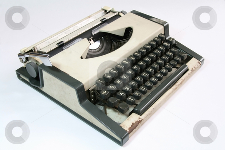 Old typewriter - sideview stock photo, Side view of an old manual typewriter by Jonas Marcos San Luis
