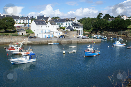 Brittany Harbor stock photo, Fishing port of Douelan in Brittany by Serge VILLA