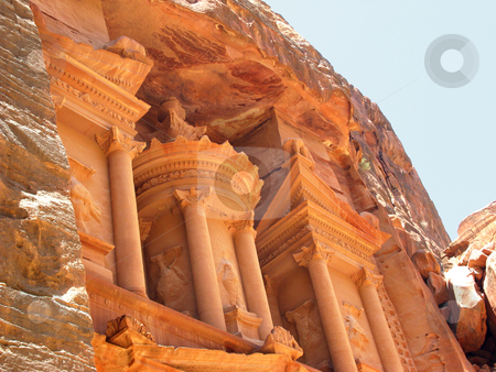 Temple fragment stock photo, Temple at Petra, Jordan, Middle east by Roman Vintonyak