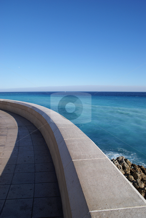 Stroll stock photo, Stroll on the coast (city of Nice, French Riviera) by Serge VILLA