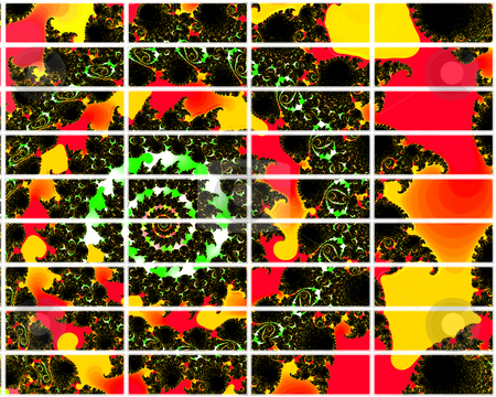 Red and Yellow Fire Effect Fractal Design 2d Buttons For Website stock photo, Red and Yellow Fire Effect Fractal Design 2d Buttons For Website Navigation by Robert Davies
