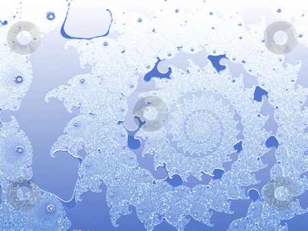 Blue Smooth 2d Shallow Fractal Design stock photo, Blue Smooth 2d Shallow Fractal Design by Robert Davies