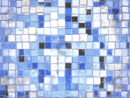 Abstract Cartoony Blue Square Blocks stock photo, Abstract Cartoony Blue Square Blocks by Robert Davies