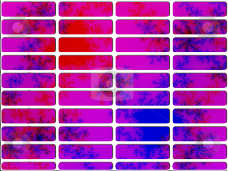 Pink and Blue Fractal Website Navigation Buttons Controls stock photo, Pink and Blue Fractal Website Navigation Buttons Controls Design Illustration Detailed by Robert Davies