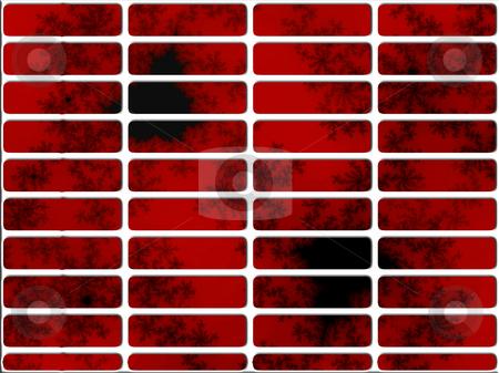 Deep Red Fractal Website Navigation Buttons Controls stock photo, Deep Red Fractal Website Navigation Buttons Controls Design Illustration Detailed by Robert Davies