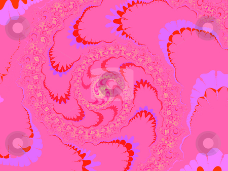 Deep Pink Modern Style Fractal 2d Pattern Background stock photo, Deep Pink Modern Style Fractal 2d Pattern Background by Robert Davies
